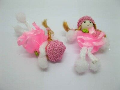 196 Pink Hand Craft Gauze Lace Doll Embellishments