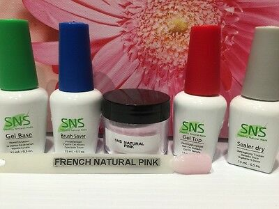 SNS Signature Nail System: 1oz Full Kit. New & Pre-bonded NATURAL PINK