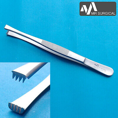 Tissue & Dressing Thumb Forceps 4x5 Teeth 14cm Surgical Veterinary Orthopedic CE
