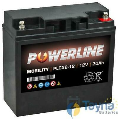 PLC22-12 Powerline Mobility Batterie 12V 20Ah