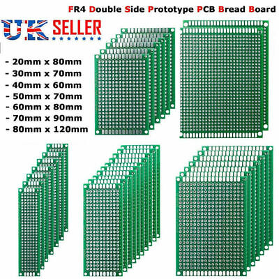 Double Side FR4 Prototype Circuit Board PCB Stripboard Universal Printed 7 Size