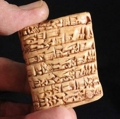 SUMERIAN CUNEIFORM TABLET Temple Priestess Shopping List 2037 BC museum replica