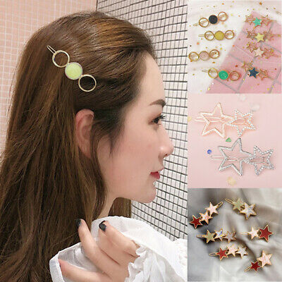 Star Clips Women Hairgrip Alloy Accessories Jewelry Screw Clamp For Bridal Hair