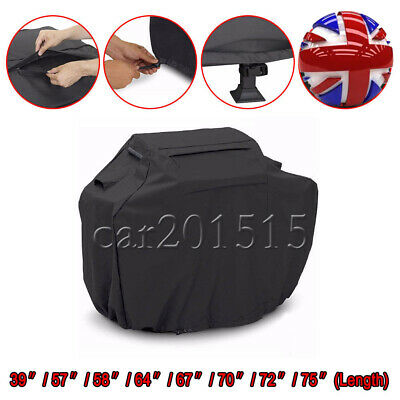 BBQ Cover Outdoor Waterproof Barbecue Cover Garden Patio Grill Storage Bag Black