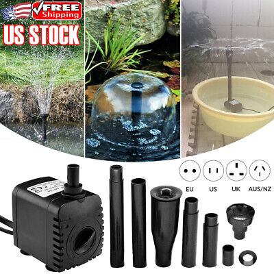 8W 600L/h Oxygen Pump Fish Tank Aquariums Pond Garden Fountain Submersible Pump