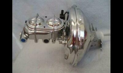 "1964 - 1972 Chevy 11"" Chrome GM Brake Booster Bail Top Master Cylinder Chevelle"