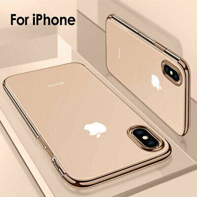 For iPhone XS Max XR Luxury Ultra Slim Shockproof Clear Silicone Back Case Cover