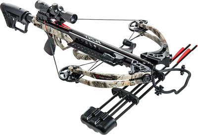 Bear X Karnage Apocalypse 370 Crossbow Package w Scope, Quiver, 3 Arrows, Sling