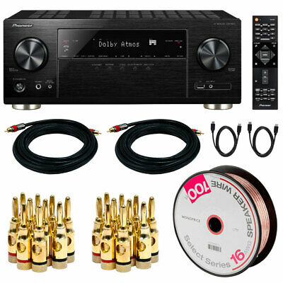 Pioneer VSX-933 7.2-Channel Network AV Receiver w/Dolby Atmos+Audio Cable Bundle