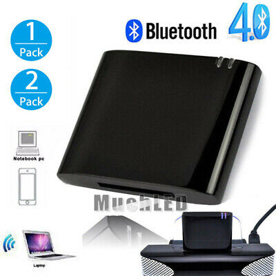 2xBluetooth 4.1 Music Receiver Audio Adapter for iPod iPhone 30 Pin Dock Speaker