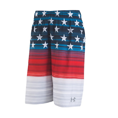 c533530fd7 NEW UNDER ARMOUR Boy's USA Swim Volley Shorts SIZE S,M MSRP:$38.00 ...