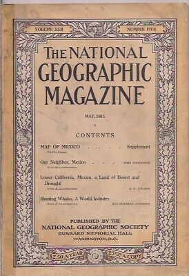 national geographic-MAY 1911-OUR NEIGHBOR,MEXICO.