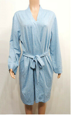 db43fa1de5f Charter Club Foggy Blue French Terry Lightweight Kimono Short Robe Women s  XL