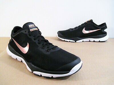 814c04342d375 Nike Flex Supreme TR 4 Cross Trainer Womens Shoe Sneaker Size 11 Black Rose  Gold