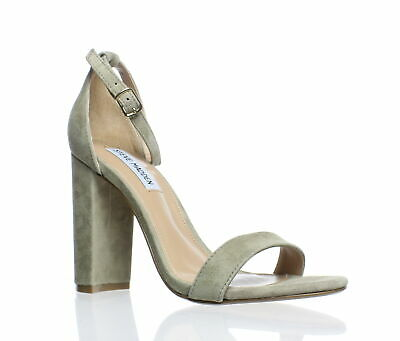 eff13afc317 STEVE MADDEN WOMENS Carrson Taupe Suede Sandals Size 7 (180844 ...