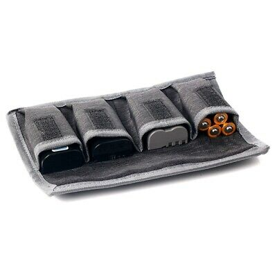 Nylon DSLR Battery Bag/ Holder/ Case Storage with 4 Pocket Pouch For Canon New