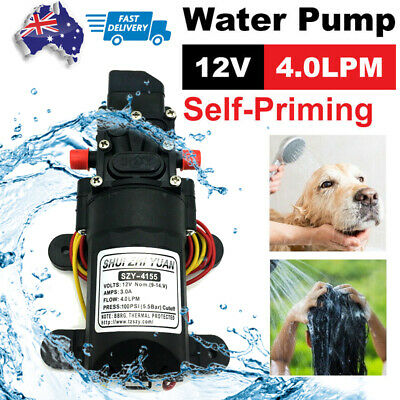High Quality 12V Water Pump 4.3Lpm Self-Priming Caravan Camping Boat