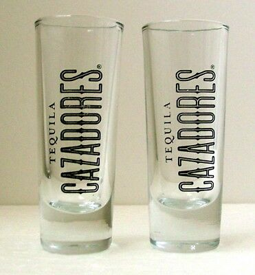 CAZADORES TEQUILA SHOT GLASSES - Pair - Collectibles
