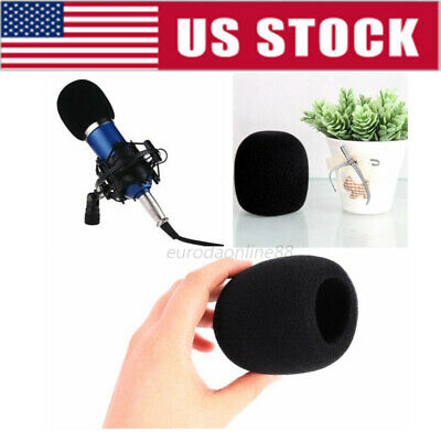 5 pieces Microphone Windscreen Filter Sponge Foam Wind Shield Mic Cover Black