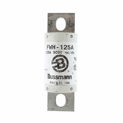 Bussman Fwh-125A 500-Volt, Stud Mount High Speed Blade Fuse 125-Amp