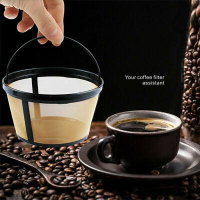 10-12 Cup Coffee Filter Basket-style Reusable Permanent Metal Mesh Tool