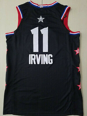 new concept 055df 97241 2019 ALL-STAR BOSTON Celtics #11 Kyrie Irving Swingman Basketball Jersey  Black