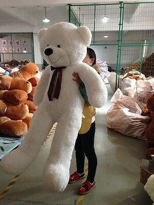 "72""/180CM Giant Huge Sfuffed Animal White Teddy Bear Plush Soft Doll Toy Gift"