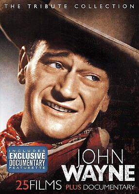 John Wayne Tribute Collection DVD Box Set WESTERN THE DUKE 25 MOVIES&DOCUMENTARY