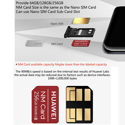 MICRO SD CARD & NM Memory Card Reader Nano SIM Card for
