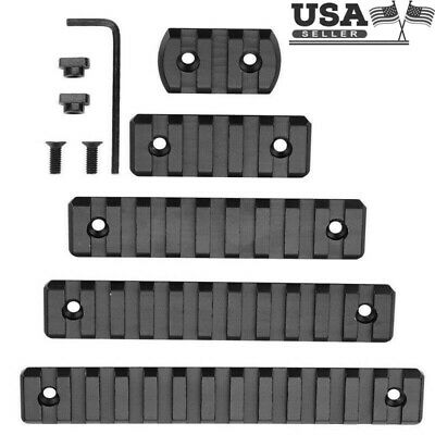 New 3/5/9/11/13 Slot M-lok Rail Sections Black Anodized Picatinny/Weaver Segment