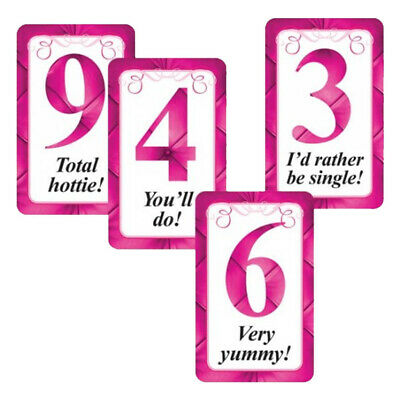 10 Hen Party Girl's Night Out Naughty Fun Minger Hunk Male Man Rating Cards