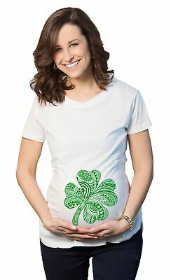 c304316a Maternity Shamrock Belly Funny T shirt Lucky Irish St. Paddy's Pregnancy T  shirt