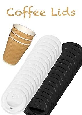 Lids For Coffee Cups All Sizes Plastic Sip Through Lids x100/50 4/5/6/7/10/14oz