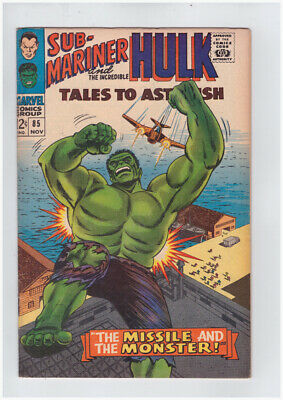 Tales to Astonish # 85 Missile and the Monster !  grade 7.0 book !