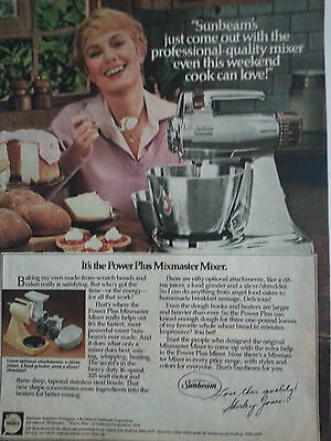 1979 Sunbeam Mixmaster Mezcla Shirley Jones Color Original Anuncio