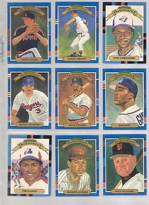 1991 DONRUSS DIAMOND KINGS x 9 IN ALBUM SLEEVE