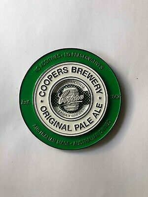 Coopers Pale Ale Metal Badge Decal Brand New