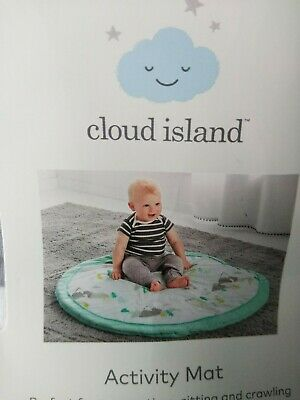 Baby Cloud Island Baby Activity Play Mat Round Moonstone Blue Mint Baby Gyms & Play Mats