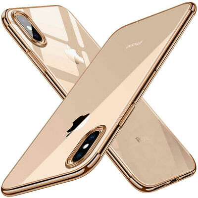 For iPhone XS XR 7 8 Case Clear Luxury Ultra Slim Shockproof Silicone Back Cover