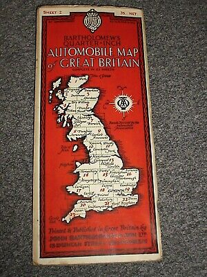 Bartholomew's ¼inch Automobile Map of Great Britain.#2.Dingwall-Portree.c1930s