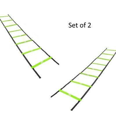 2 x 4m Speed Exercise Sport Football Agility Training Ladders - 4 metres long