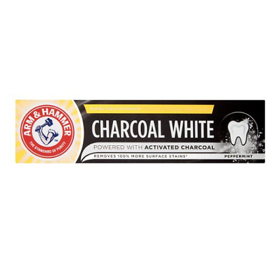 ARM & HAMMER CHARCOAL TEETH WHITENING STAIN WHITE PEPPERMINT TOOTHPASTE - 75ml