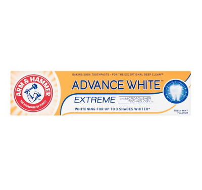 Arm And Hammer Advanced White Teeth whitening Toothpaste Stain Remover - 75ml