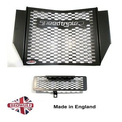 1050 Speed Triple R (16-17) Black Radiator & Oil Cooler Protector, Cover, Grill