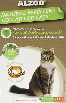Alzoo Flea & Tick Cat Collar 4 Month Natural Alternative To Chemical.freeshipusa