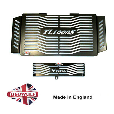 Suzuki TL1000 S (97-01) Radiator & Oil Cooler Guards in Black by Beowulf