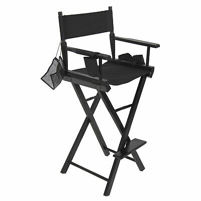 BCP Foldable Professional Makeup Artist Directors Chair - Black