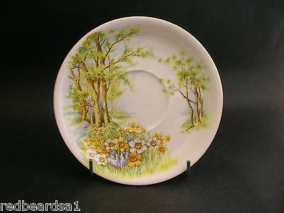 China Replacement Shelley Daffodil Time Vintage Saucer England c1950s 14cm 13370