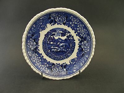 China Replacement Adams Blue Scenic Cows Saucer Ironstone Micratex c1960's