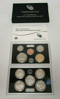 2017 US MINT ENHANCED UNCIRCULATED COIN SET 225th ANNIVERSARY